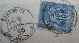 LOT DF/322 - SAGE TYPE II N°90 SUR LETTRE - CàD BLEUS - BORDEAUX > SAINT-GAUDENS 9 JUILLET 1885 - 1876-1898 Sage (Type II)