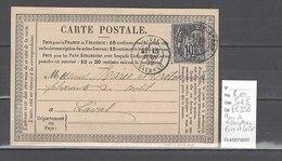 CPA  Gare De Chartres - Eure Et Loir - Indice 5 - Marcophilie (Lettres)