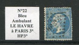 FRANCE- Y&T N°22- Ambulant HP3° - Marcophilie (Timbres Détachés)
