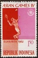 INDONESIE, Badmington, 1 Valeur Emise En 1962 * MLH - Badminton