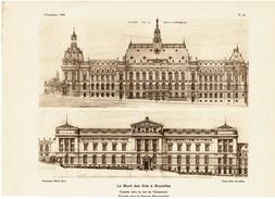 L'Emulation 1926 - 4 Planches Le Mont Des Arts à Bruxelles - Architecte Joseph Caluwaers - 4 Scans - Architecture