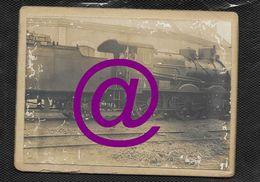 Train Locomotiveà Vapeur EST Série 10  - Photo Ancienne Cartonné 9X11 Cm Env , Lieu Non Connu - Trains