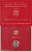 2 Euro Commémorative BU VATICAN 2015 RENCONTRE MONDIALE DES FAMILLES  En Coffret BU Neuf - Vatican