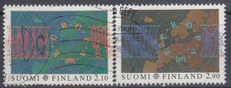 FINLANDIA 1991 Nº 1110/11 USADO - Gebraucht