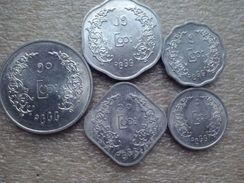 Myanmar Set : 1 -  50 Pyas 1966   Aluminium - Myanmar