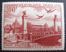 LOT DF/343 - 1949 - POSTE AERIENNE - N°28 NEUF * - Poste Aérienne