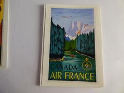 AIR FRANCE  /   REPRODUCTIN D AFFICHE EN CARTE POSTALE   CANADA - 1946-....: Modern Era