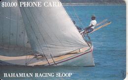 BAHAMAS ISL.(chip) - Bahamian Racing Sloop(BAH C3A)(gold CN), Chip GEM1, Tirage %60000, Used - Bahamas