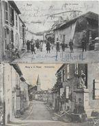 57- ANCY SUR MOSELLE -2 CARTES -RUE DE LORRAINE - KIRCHSTRASSE - FONTAINE - France