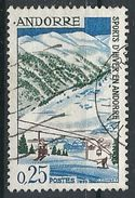 Andorre - Année 1966 - Y&T N° 175 Oblitéré - Voir Scan Verso - Andorra Francesa
