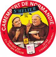 ETIQUETTE  DE  CAMEMBERT GEORGES BISSON LIVAROT 14 BK ST HELIER - Cheese