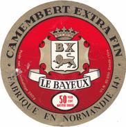 ETIQUETTE  DE  CAMEMBERT LAITERIE DE BAYEUX 14 Y - Cheese