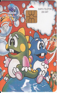INDONESIA(chip) - Cartoons, Monsters On The Globe, Telkom Telecard 200 Units, Used - Indonesien