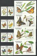 GAMBIA  1991   BUTTERFLIES  SET  &  SHEETS   MNH - Papillons