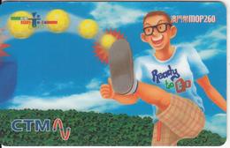 MACAU - CTM Prepaid Card MOP260, Exp.date 31/03/02, Used - Macau