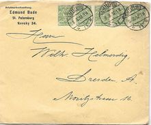 Lettre De St Petersburg En 1912  Vers DRESDEN - 1857-1916 Empire