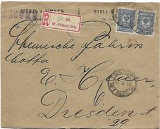 Lettre  Rcommandée   De St Petersburg En 1914  Vers DRESDEN - 1857-1916 Empire
