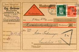 (Lo23) Nachnahme  DR St. Ludwigshafen N. Landshut - Cartas