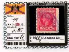 SPAIN EMPIRE-CLASSIC# SERIE(S) COLONIAL# (ESC 190-1 (12) - Elobey, Annobon & Corisco