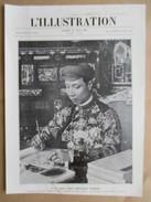 """(1922) - S.M.Khai Dinh Empereur D'Annam  Ecriture     -   Page Originale Ancienne Revue """"Illustration"""" - Documents Historiques"""