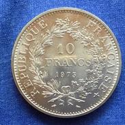 10 F 1973 Hercule Argent Rare - K. 10 Francs