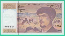 20 Francs -Debussy - France - N° E.056 - 1379594544 / 1997 -Spl - - 1962-1997 ''Francs''