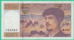20 Francs -Debussy - France - N° M.051 - 1261722585 - 1997  - TB+ - - 1962-1997 ''Francs''