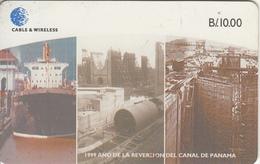 PANAMA(chip) - Canal Of Panama 3, Chip SC7, Used - Panama