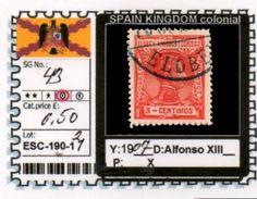 SPAIN EMPIRE-CLASSIC# SERIE(S) COLONIAL# (ESC 190-1 (21) - Elobey, Annobon & Corisco