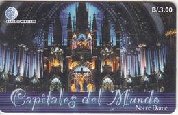PANAMA(chip) - Capitals Of The World/Notre Dame-Paris, Chip GEM3.3, Used - Panama
