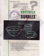 PUBLICITE  VERRERIE DURALEX- CACHET CHABERNAUD & LARCHER 13 COURS JOURDAN - 87- LIMOGES- IMPRIMERIE DUPUY PARIS - Pubblicitari