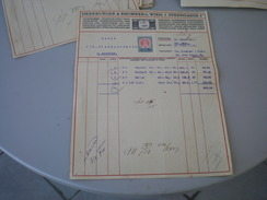 Wien Herrburger Rhomberg  Spinnereien Buntweberei Appretur 10 H Stamps 1911 - Austria