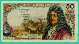 50 Francs - Racine - France - N°K.152-0378416419 / 6=11=1969 - TB+ - - 1962-1997 ''Francs''