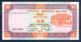 514-Macao Billet De 10 Patacas 2001 BH213 - Macao
