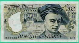 50 Francs - Quentin De La Tour  - France - N° Z.18-449082720 / 1980 - TB+ - - 50 F 1976-1992 ''Quentin De La Tour''