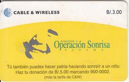 PANAMA(chip) - Fundacion Operacion Sonrisa, Chip GEM3.3, Used - Panama