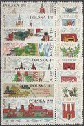 Pologne 1969 N° 1766-73 NMH Tourisme, Vues Diverses Avec Sa Vignette (D17) - 1944-.... République