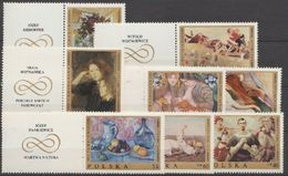 Pologne 1969 N° 1791-97 NMH Peitures Polonaises Diverses Avec Vignette (D17) - Nuovi