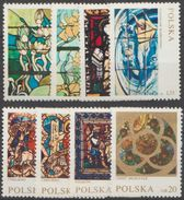 Pologne 1971 N° 1949-56 NMH Vtreaux Divers (D17) - Nuovi