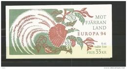 1994 MNH Schweden, Sweden, Sverige, Booklet, Postfris - Carnets