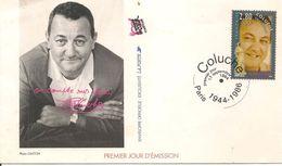 1994-ENVELOPPE COMMOMERATIVE -1e JOUR-COLUCHE -RESTOS Du COEUR-BE - Service