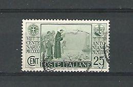 1931 N° 274 LE MIRACLE DES POISSONS  OBLITERE - 1900-44 Vittorio Emanuele III