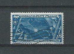 1932 N° 316  OU IL Y A UN ITALIEN , IL Y A UN DRAPEAU   OBLITERE - 1900-44 Vittorio Emanuele III
