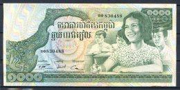 460-Cambodge Billet De 1000 Riels 1972 - 830 Sig.13 - Cambodia