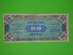 1944-50 MARK-ALLIED MILITARY CURRENCY-GERMANY-GERMAN BANKNOTE-NOTE-BILL-CASH-WW2, ALLIIERTE MILITARBEHORDE - 50 Mark
