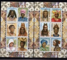 NAMIBIA, 2002, Mint Never Hinged  Sheets Of Stamp(s),Traditional Women In Namibia,  Sa 377-378, #8027 - Namibië (1990- ...)