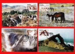 NAMIBIA,  1996, Maxi Cards, Tourism Namibia,  Sa 140-143, F3844, Without Stamps - Namibië (1990- ...)