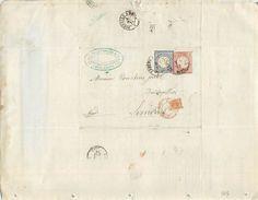 LETTRE Alsace 1874 Annexion Timbres Allemands  De Saverne à Limoux 2 Scans - Postmark Collection (Covers)