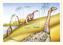 Zm9988d ZAMBIA 1999, Dinosaurs, MS 4 - Saltasaurus - Zambie (1965-...)
