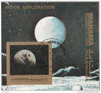 Bf. 184B Manama 1972 Moon Exploration - Esplorazione Della Luna - Apollo 11 Imperf. - FDC & Commemorrativi